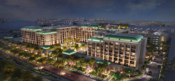 A rendering of the Westin Anaheim Resort.