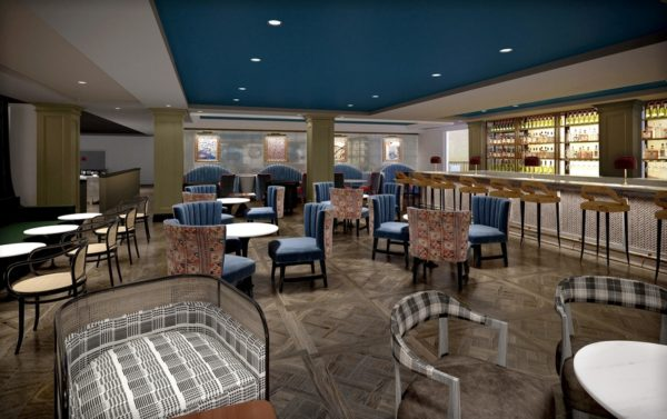 A rendering of the Burgess Hotel's full-service restaurant. Photo credit: Highgate Hotels