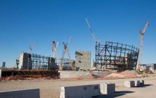 The under-construction Raiders stadium in Las Vegas is shown Thursday, Feb. 28, 2019. Christopher Devargas.
