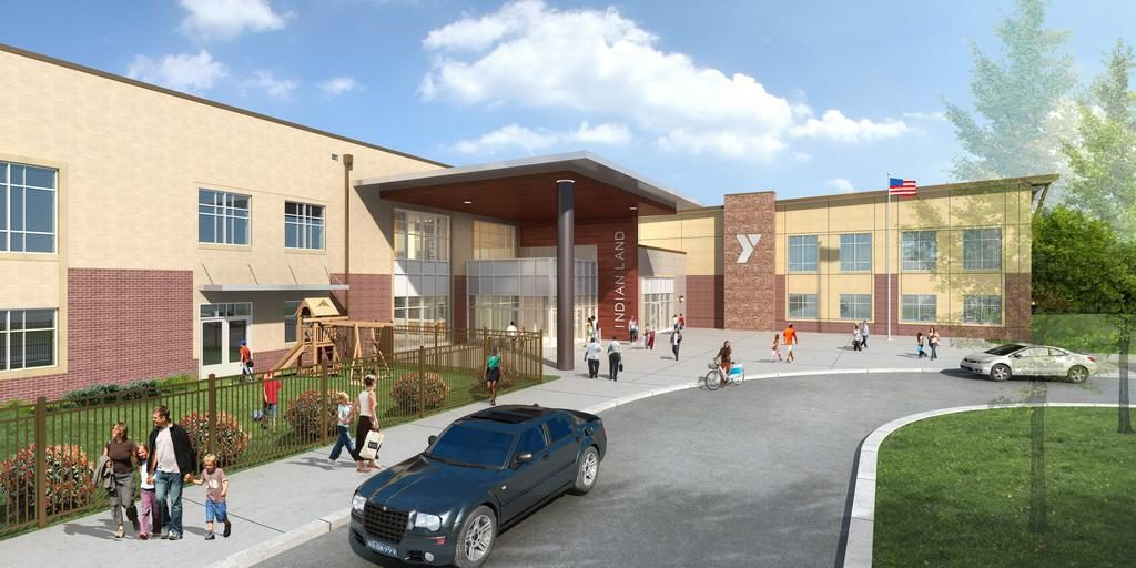This rendering depicts plans for the YMCA facility now under construction in Indian Land, South Carolina.