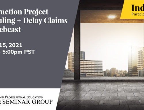 Construction Project Scheduling & Delay Claims